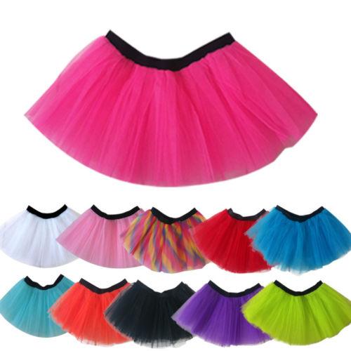 3Layers Adult Women Tutu Tulle Skirt Petticoat Dance Halloween Party Fancy