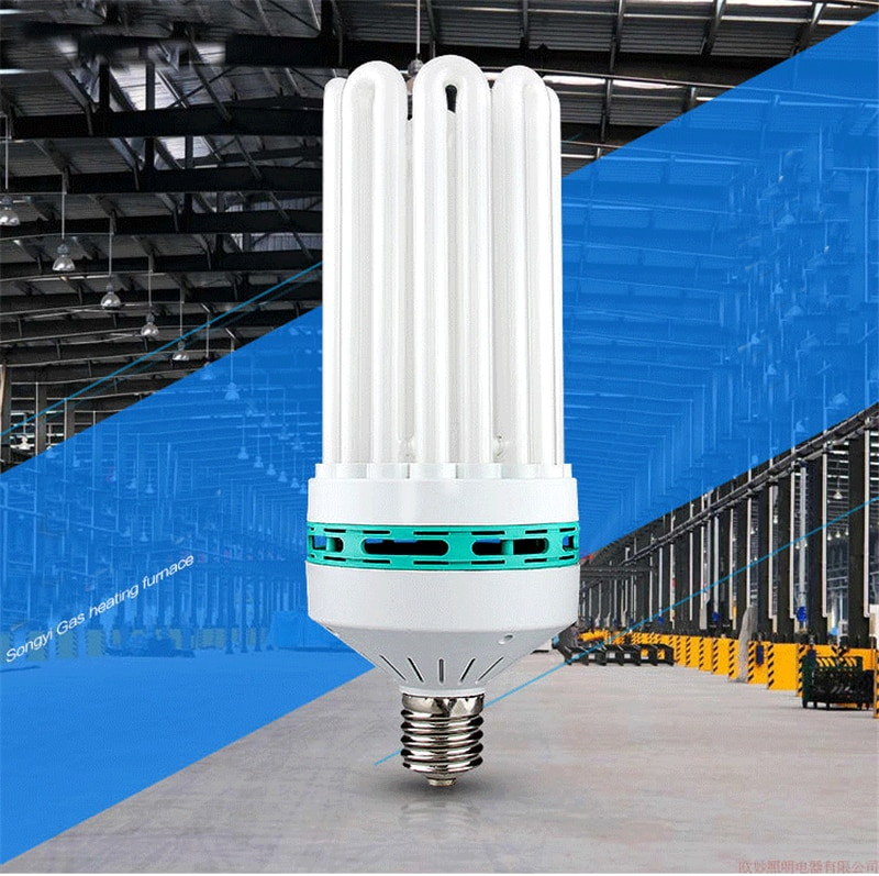 E40 8U 185W 300W 400W energy saving tube high power bulb home white light indoor Industrial lighting