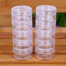 Organisateur cosmétique rotatif magasin Qtip conteneur Transparent petits écouvillons boîte bijoux stockage support de la boîte et bonbons pots