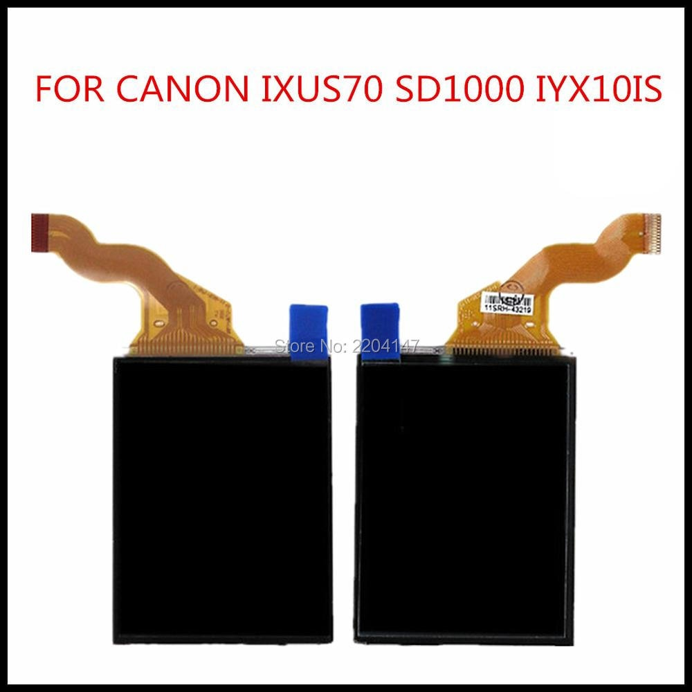 Nueva pantalla LCD para CANON IXUS70 IXUS 70 SD1000 IXY10 PC1228 pieza de reparación para cámara digital sin retroiluminación