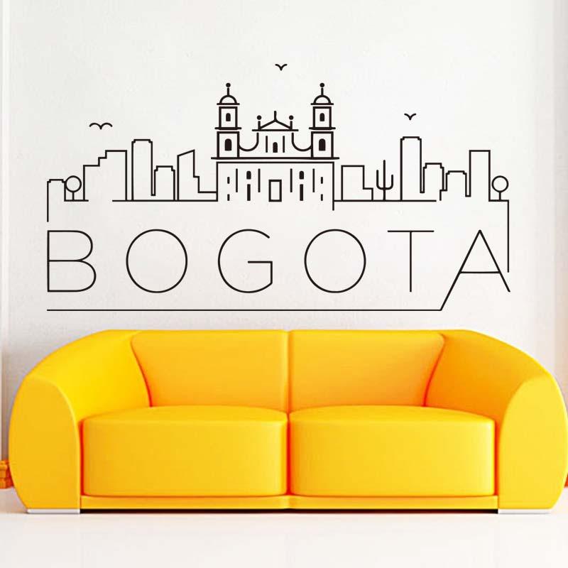 Pegatina de pared extraíble para sala de estar, impermeable, decoración del hogar, pegatina de país, Landscope