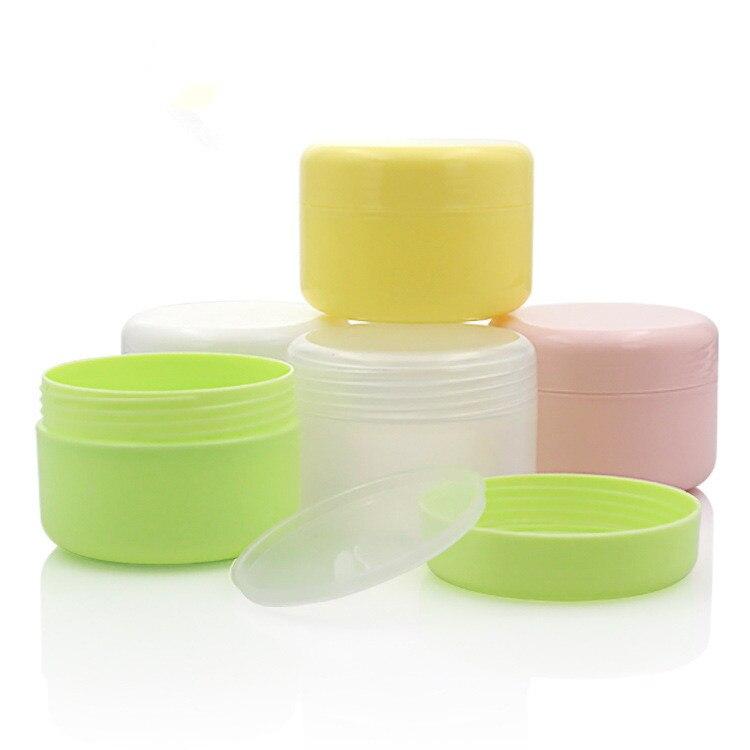 20 teile/los 10/20/30/50/100/150/250g Leere Make-Up Jar Topf reise Gesicht Creme/Lotion/Kosmetische Container Nachfüllbar Flaschen Kunststoff