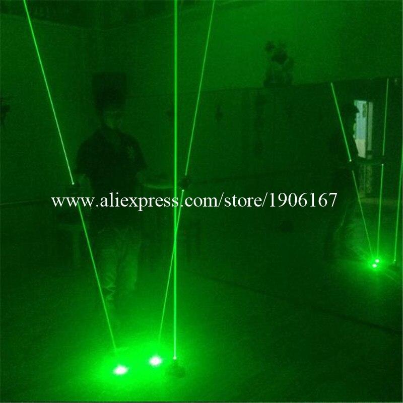 Wecool toptan yeni tasarım lazer projektör kontrol ayak tarafından 2 adet el lazer kılıç lazer gösterisi dans dj noel
