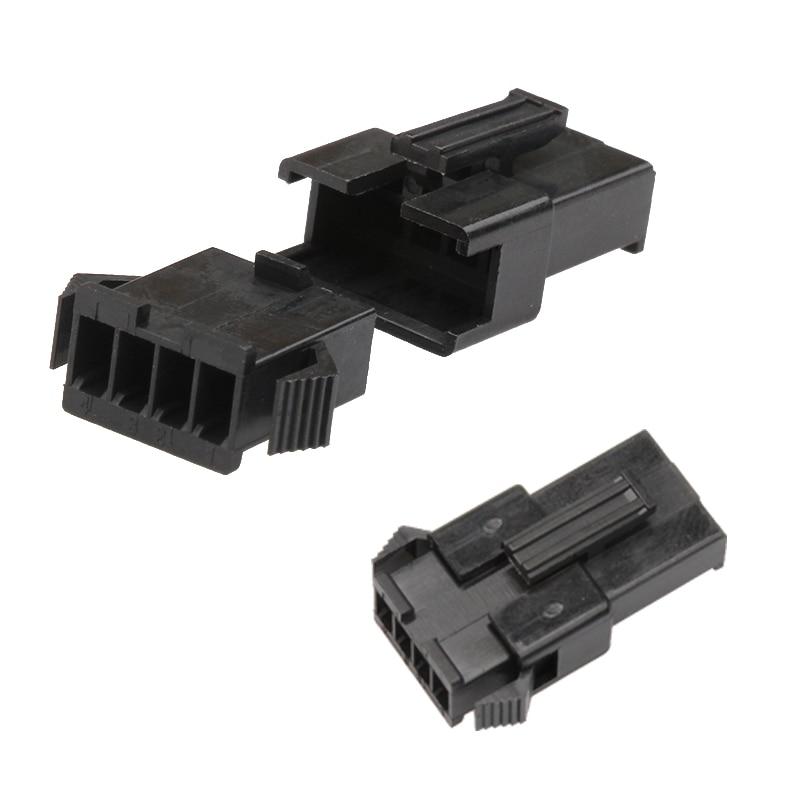 4 Pin 2.54mm Housing Dupont Connector Pitch JST SM Header Male Female Crimp Pin Terminal Adaptor Assortment Kit 100Pcs/10Set