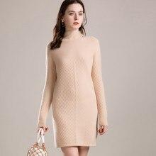 Женский свитер с высоким воротом, Однотонный свитер из натурального меха козы и шерсти, Размеры S/M/L/XL/XXL, розничная и оптовая продажа