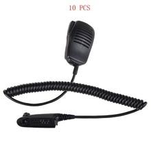 10 stücke walkie talkie ppt handheld lautsprecher mic für motorola gp328 pro5150 gp338 pg380 gp680 ht750 gp340 zweiwegradio mikrofon