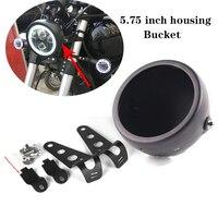 5.75 Inch LED Headlight Lamp Shell Bucket Housing for Harley Motorcycle Honda Shadow Kawasaki Vulcan Suzuki