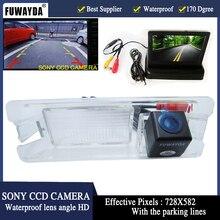 FUWAYDA-caméra foldale Icd à affichage   Caméra de surveillance de voiture, Parking + HD, caméra frontale de voiture pour Nissan March, Renault Logan Sandero, 4.3