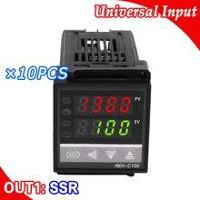 10 teile/los Digital PID Temperatur Regler Thermo K Eingang sensor, SSR Ausgang, 48*48mm größe