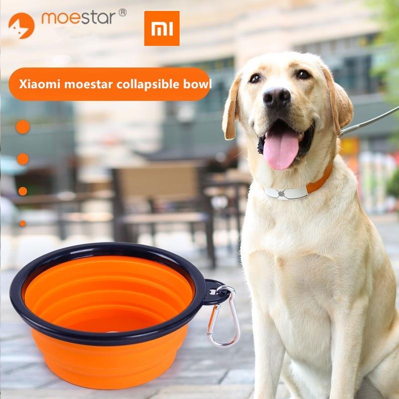 Xiaomi moestar bol en Silicone pliable avec boucle suspendue bol à eau pour chien voyage pliable chiot alimentation plats récipient à nourriture