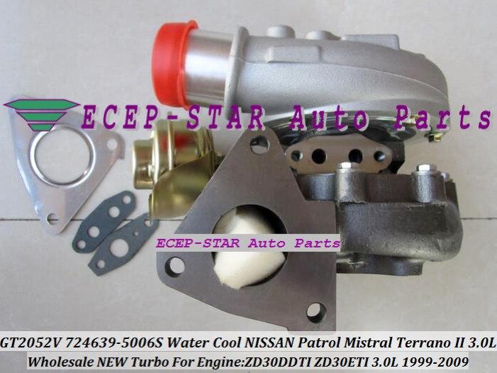 Refrigerado por agua Turbo GT2052V 724639-5006 S 705954-0013, 724639, 705954 para NISSAN patrulla Mistral TERRANO 1999- ZD30DDTI ZD30ETI 3.0L