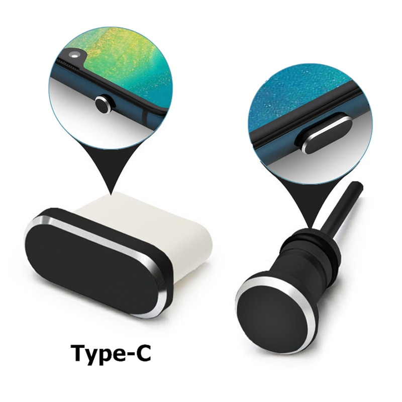 Type C Mobile Phone Accessories Dust Plug Gadgets Charging Port Jack USB C for Samsung S10 S9 S8 Not