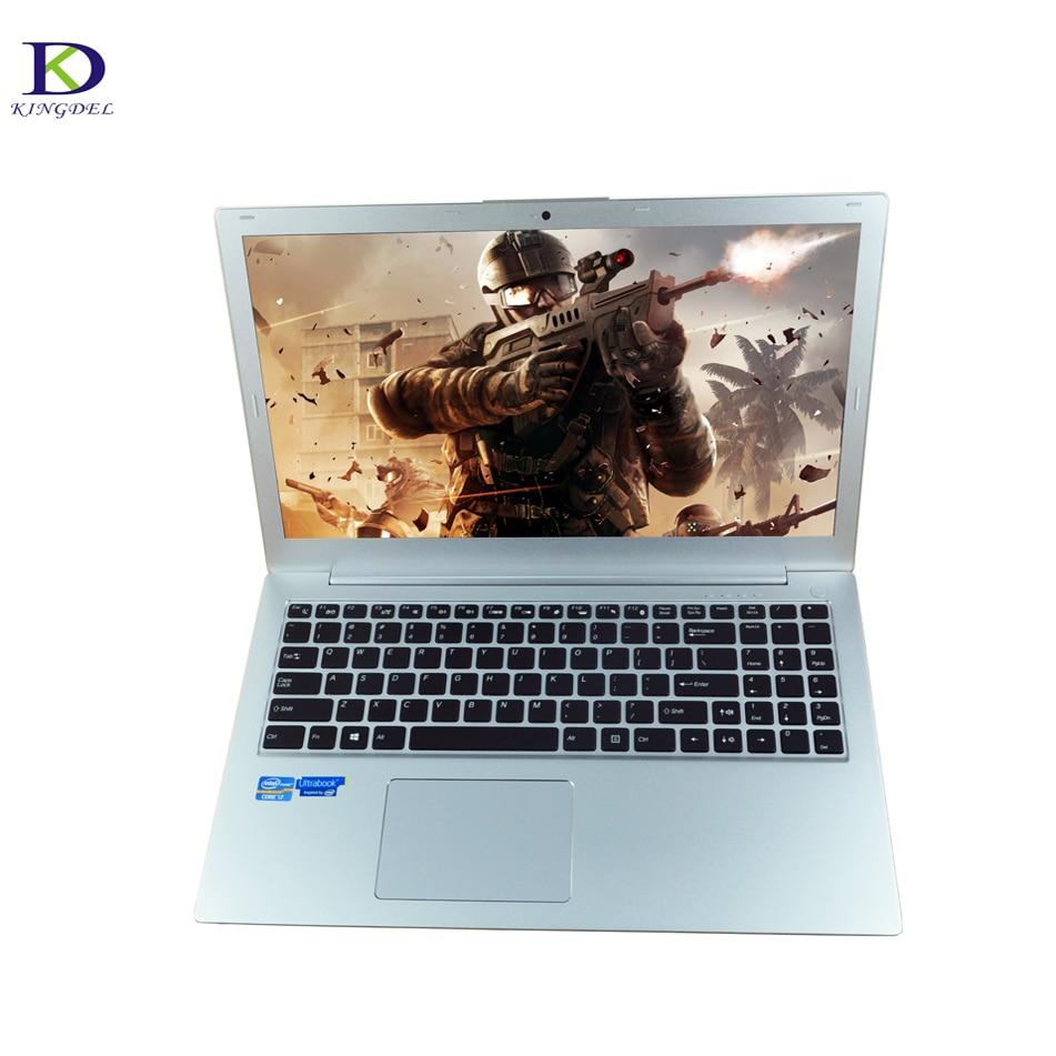 High Quality All-metal Case 15.6 inch Laptop Intel i5 6200U Backlit Keyboard Webcam Bluetooth Ultrabook with 8GB RAM 1000GB SSD