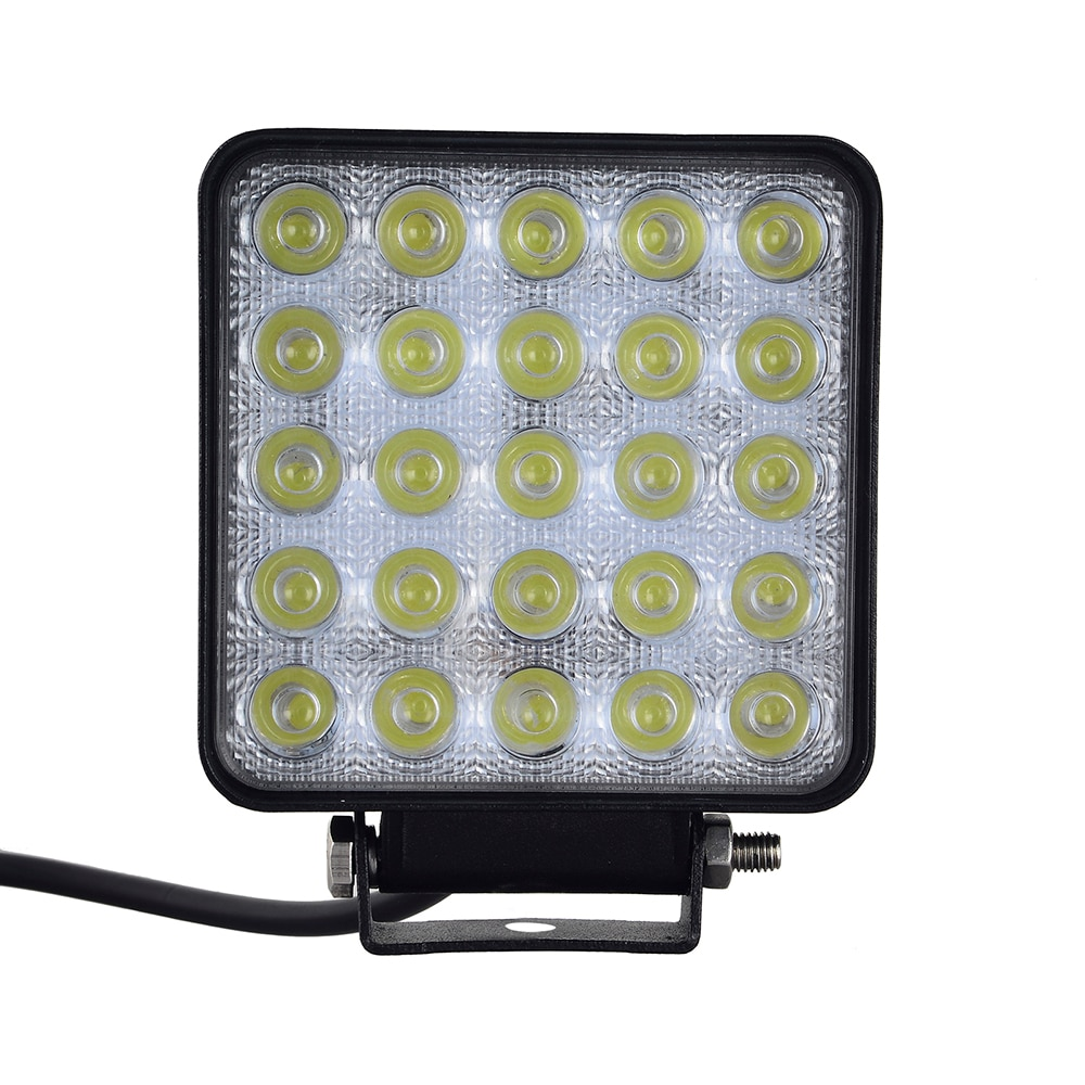 10 Uds 12W 48W 75W 96W 120W cuadrado forma blanco LED luces de trabajo Spot Beam 25 LEDS Offboard barco-24V DC 12V