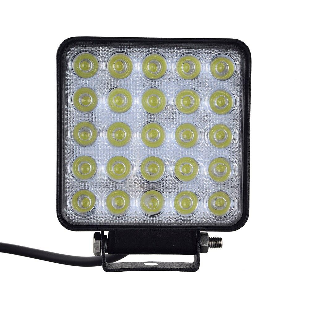 10PCS 12W 48W 75W 96W 120W Square Shape White LED Work Lights Spot Beam 25 LEDS Offboard Boat DC 12V-24V