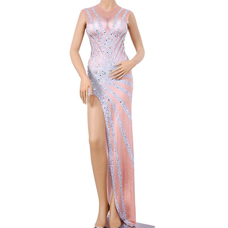 زي مغني مرصع بالكريستال البراق ، ملابس للحفلات ، أعياد الميلاد ، زي ملهى ليلي مثير مخصص للدي جي ، فستان ماسي كلاسيكي