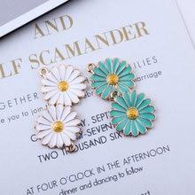 Bracelets à breloques en émail, pendentif à breloques en forme de fleur en or, accessoires de bricolage 10 pièces/paquet