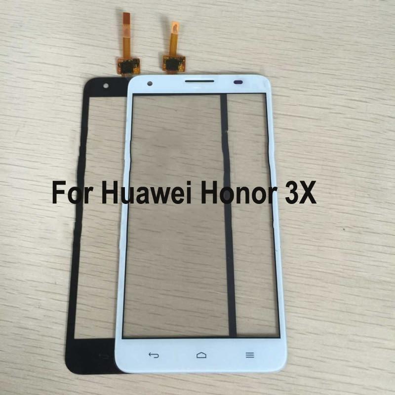 Para Huawei Honor 3X3 X Honor3X G750-T00 Panel táctil digitalizador pantalla cristal Sensor táctil Panel táctil con Flex cable
