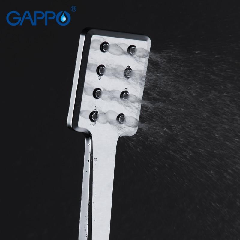 GAPPO دش رئيس هطول الأمطار حمام دش رئيس ABS توفير المياه دش يدوي الكروم فوهة دش ارتفاع ضغط دفعة