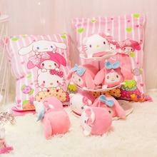 8 Pieces Animal Pudding Plush Toys Soft Snack Pillow Kitty Cat Rabbit Chicken Pig Plush Dolls Children Baby Sleeping Cushion