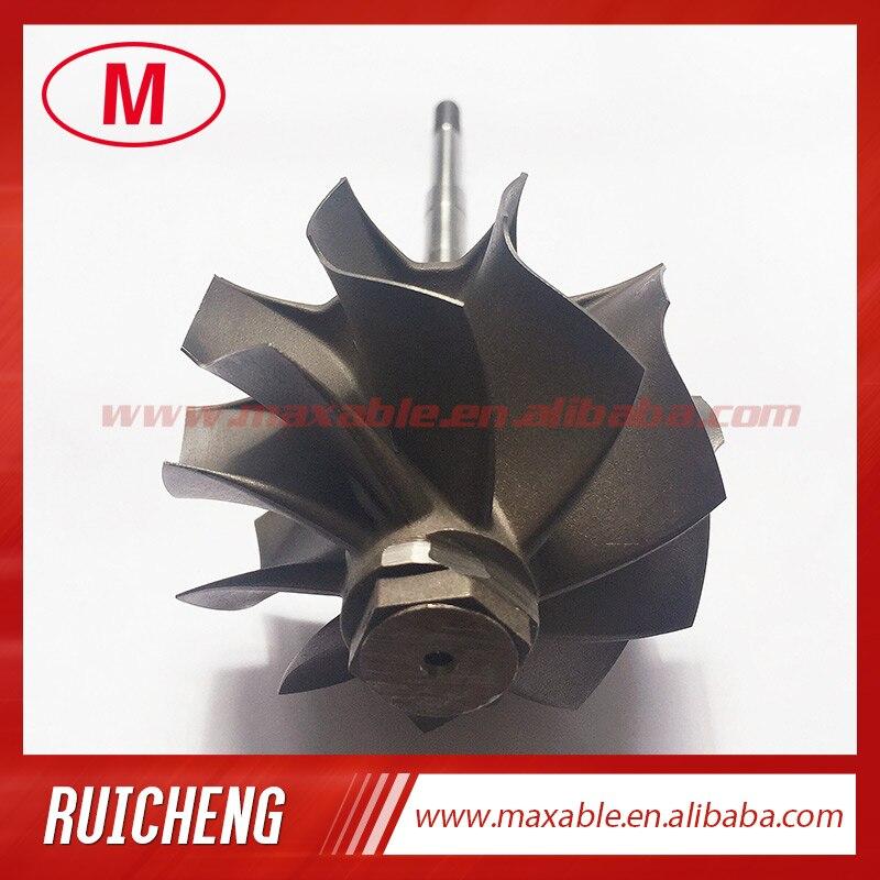 GT35R/GT3582R/GT3582/GTX3582 62.35X68.00mm rueda de turbina de 10 cuchillas y eje/rueda turbo para rodamiento de bolas de turbocompresor