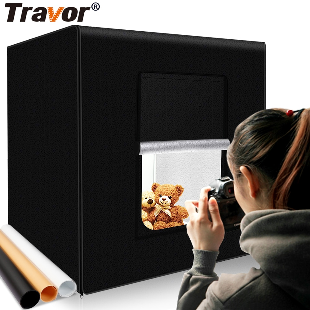 Travor M40 II صور مربع 40 سنتيمتر * 40 سنتيمتر عكس الضوء استوديو softbox الجدول التصوير اطلاق النار خيمة مع ضوء المغير العلبة الخفيفة