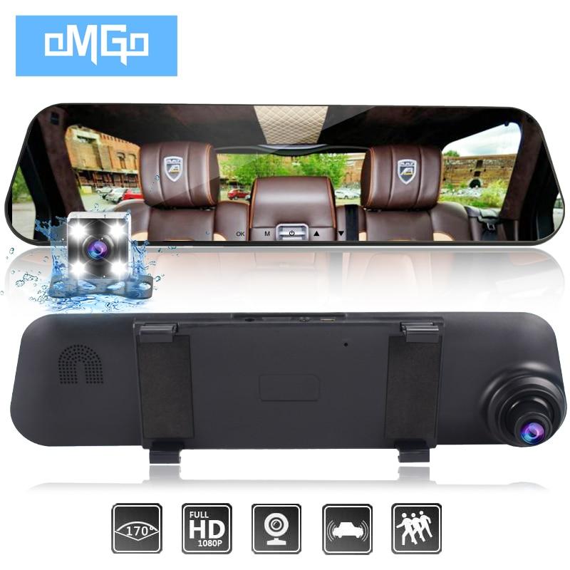 auto vehicle dvrs cars dvr dual lens car camera rearview mirror recorder video registrator full hd1080p dash cam camcorder