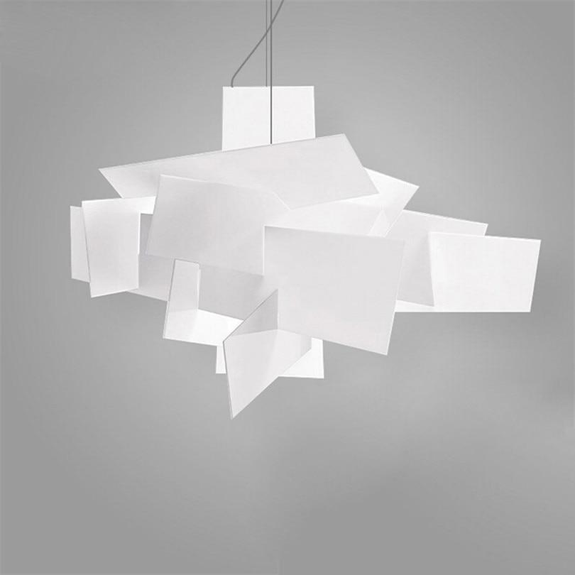 Durchmesser 95cm Moderne Foscarini Big Bang Stapeln Kreative Moderne Pandant Kronleuchter Beleuchtung Kunst Lampe Decke R7S Led-lampen 90-260V