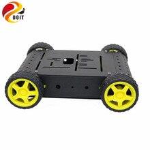 Kit de châssis de voiture intelligente 4wd avec support en alliage daluminium pour roue de moteur TT pour Kit Robot télécommandé Arduino bricolage