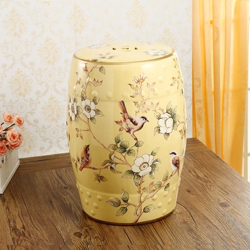 Taburete de cerámica para sala de estar jardín y oficina taburete de jardín de cerámica chino