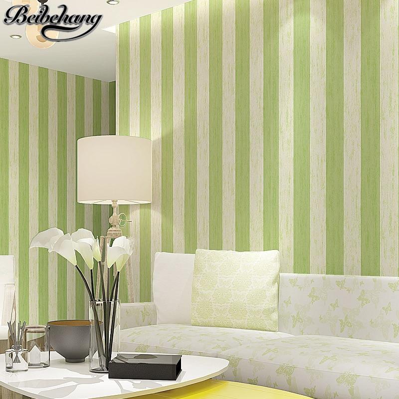 Papel tapiz de pared no tejido a rayas contemporáneas de alta calidad beibehang