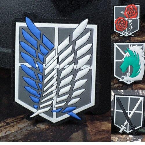 1pc pvc borracha cola epoxy braçadeira militar tático emblema roupas titã esportes remendo star wars crânio acrílico epaulette