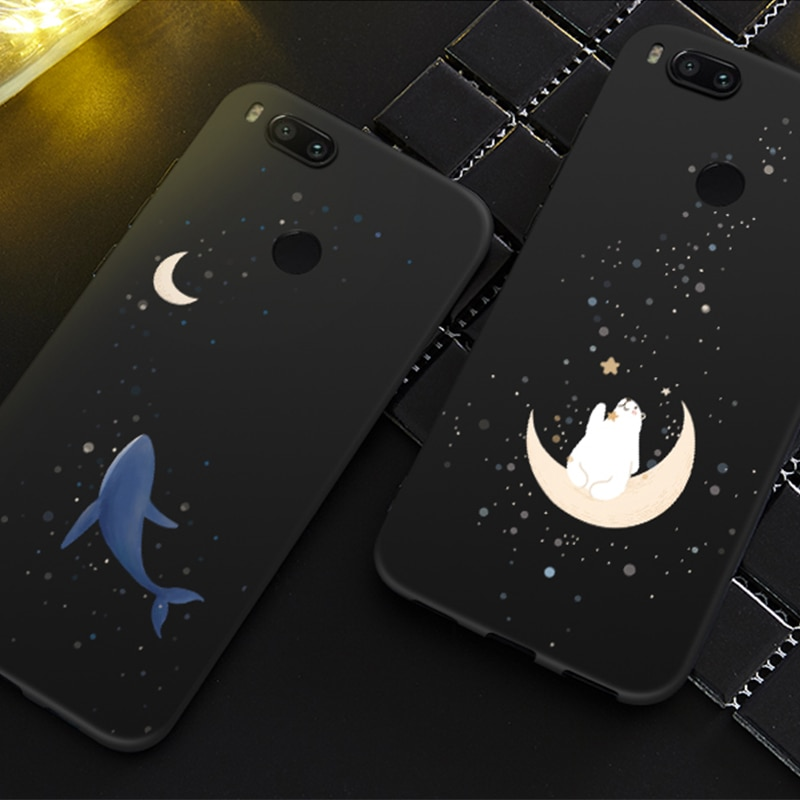 Funda ASINA de silicona para Xiaomi mi A1 Funda estrellas y espacio 3D para Xiaomi mi A2 Lite mi 8 SE mi x 3 a prueba de golpes
