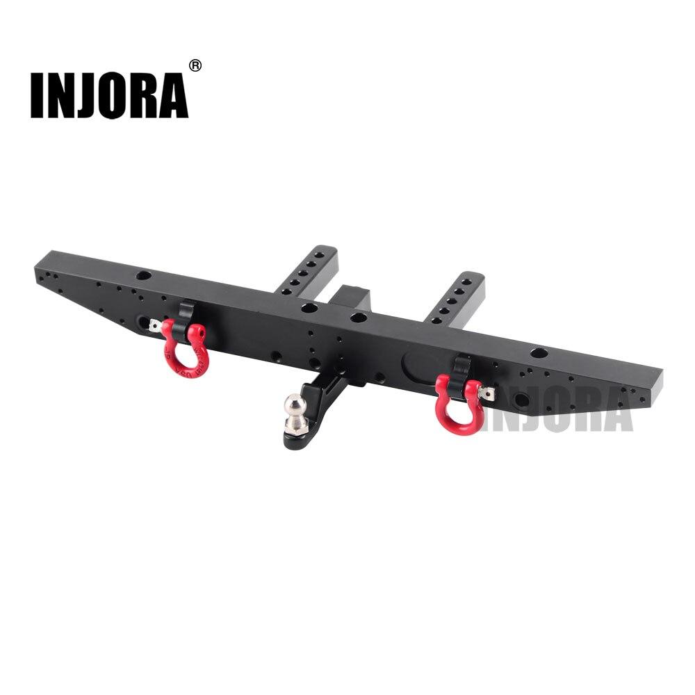 INJORA 1 قطعة المصد المعدني الخلفي مع D-خواتم ل 1/10 RC سيارة TRAXXAS TRX-4 TRX4 ترقية أجزاء