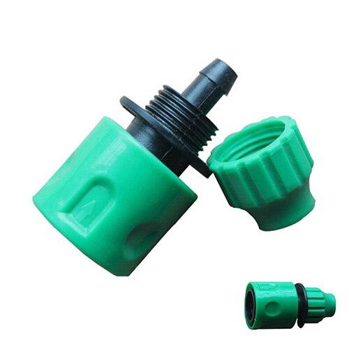 """Nova venda quente adaptador de acoplamento rápido gotejamento fita para irrigação mangueira conector com 1/4 """"farpado conector ferramentas irrigação do jardim"""