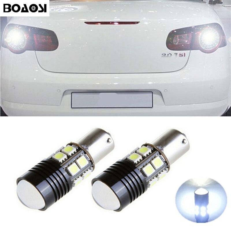 Автомобильные светодиодные лампы BOAOSI 2x, 1156 BA15S, 360 градусов, для VW Passat B1 B2 B4 B3 B5 B6 T4 T5 touran polo jetta