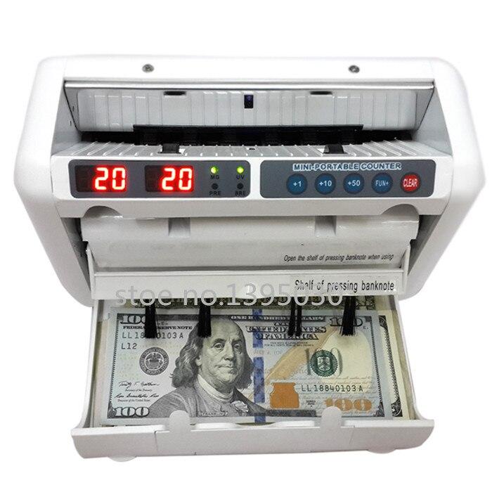 ماكينة عد النقود 110 فولت/220 فولت مناسبة للدولار الاوروبي متعدد العملات متوافقة مع عداد عملة المال