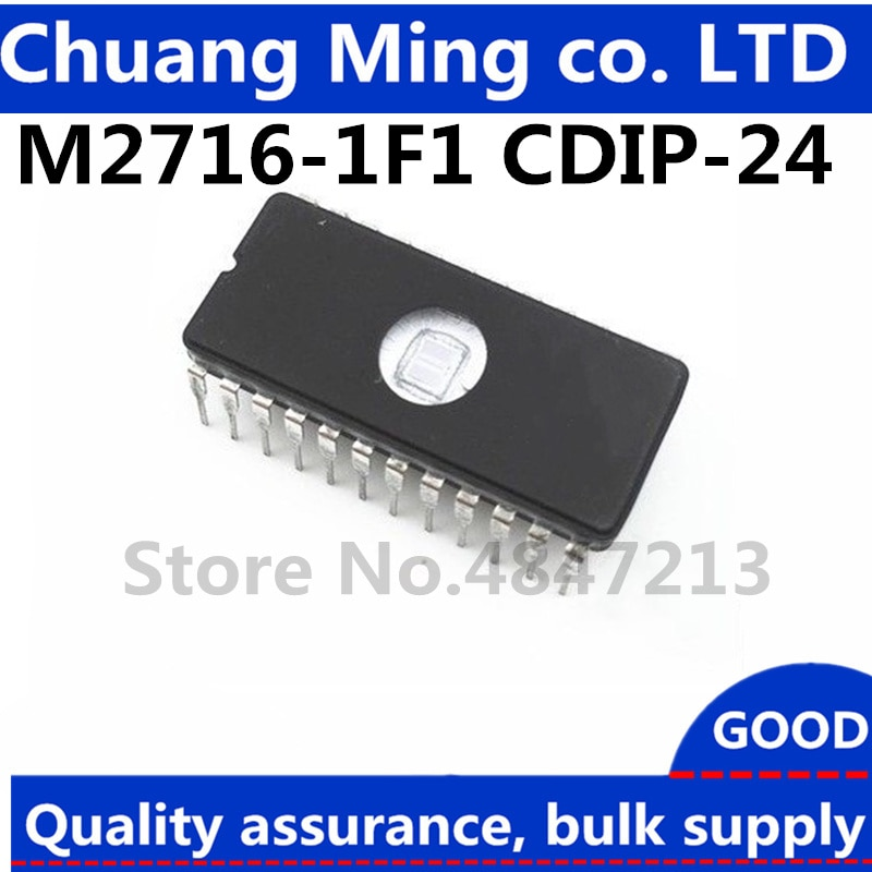 Free Shipping 10PCS M2716-1F1 2716 Memory UV EPROM IC NEW