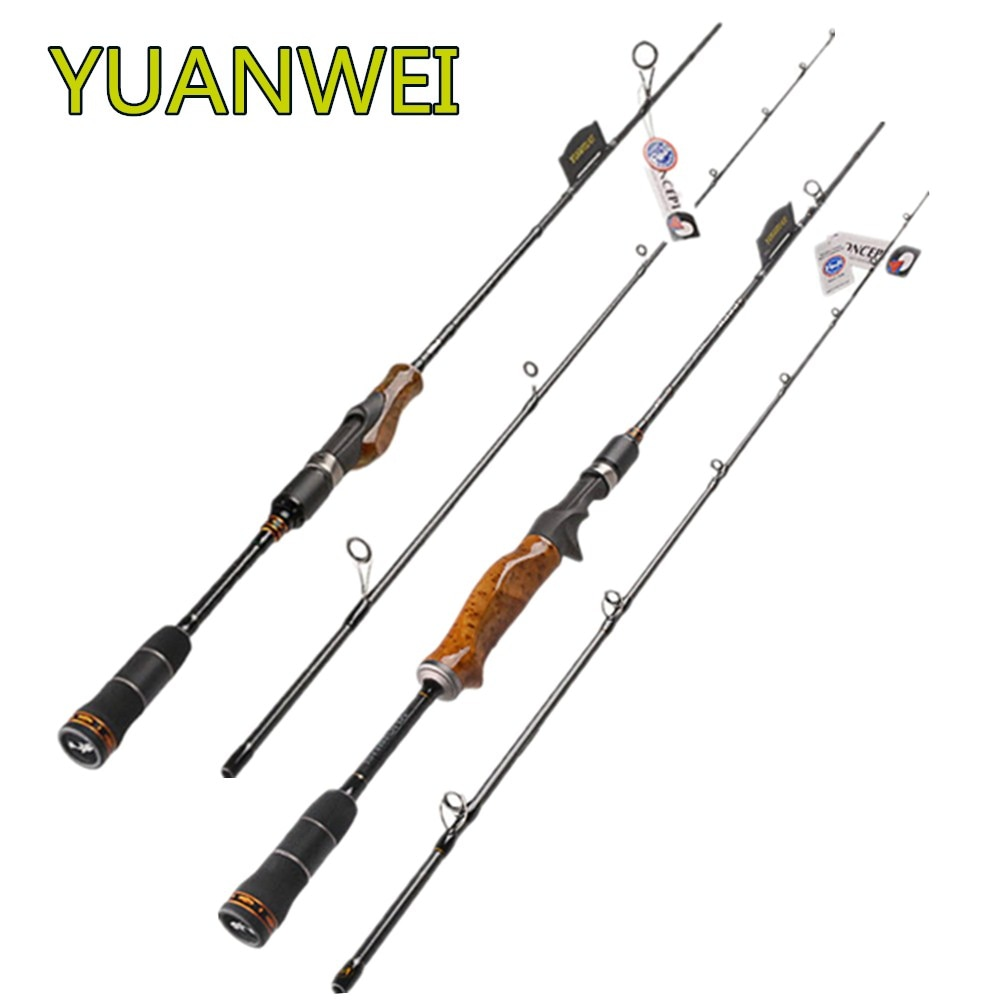 YUANWEI 1.98m 2.1m 2.4m Spinning or Casting Fishing Rod 2 Section ML M MH Power Carbon Lure Rod Stick Vara De Pesca Olta Vara