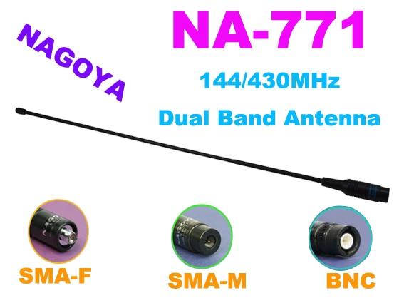 Nagoya NA-771 NA771 144/430 MHz Double Bande Antenne pour Wouxun KG-UVD1 Baofeng UV-5R GT-3 BF-UVB2 ICOM IC-V80 KenW00D talkie-walkie