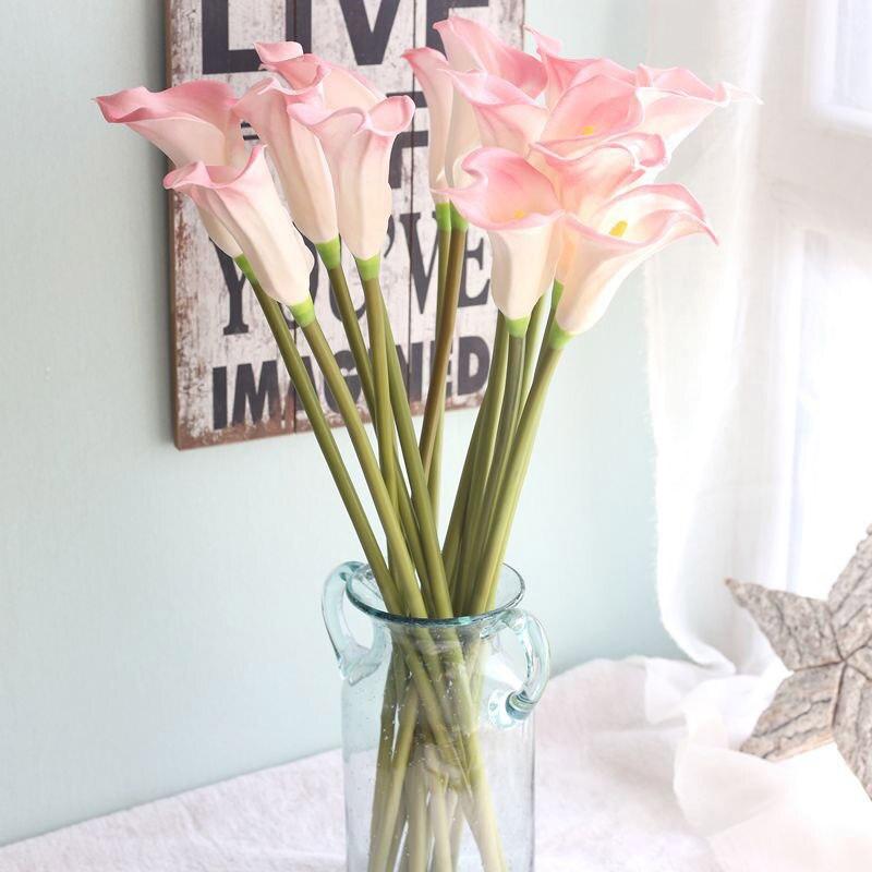 Bouquet de mariage de lys en Latex artificiel   Vraie fleur artificielle simulée, décor de fête de maison et de bureau