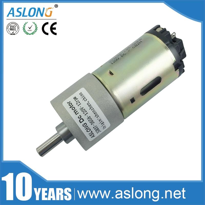 ASLONG Wholesale High Torque DC Motor JGB37-3658 0.8-1000rpm DC Motor 12V 24V 120V Reduction Motor Low rpm Electric Motors