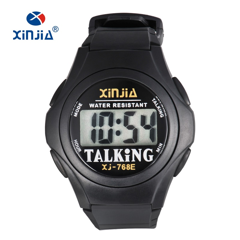 XINJIA New Talking Watch For Blind Men Women Casual Sport Digital Elderly Visially Impaired  Italian