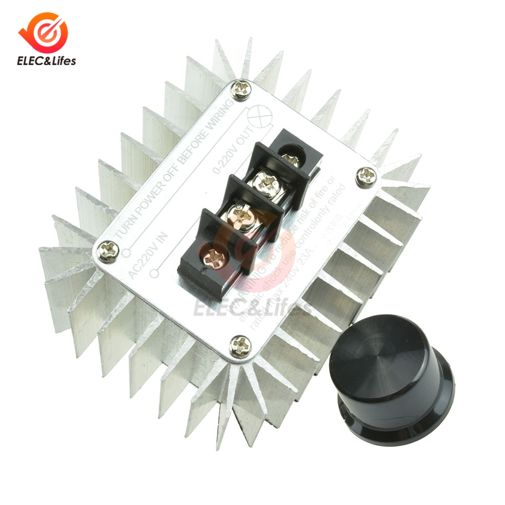 1 Uds AC 220V 5000W SCR PWM controlador de velocidad del motor luz atenuación atenuadores regulador del termostato interruptor regulador de control para Arduino