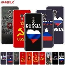 Herz liebe Russische Flagge Vintage UDSSR Abdeckung für Meizu M6 M5 M5S M2 M3 M3 MX4 MX5 MX6 PRO 6 5 U10 U20 hinweis plus