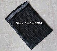 40pcs 매트 블랙 Aluminizing 버블 봉투 선물 배송 파우치 메일러 버블 가방 무료 배송 235*280mm + 40mm