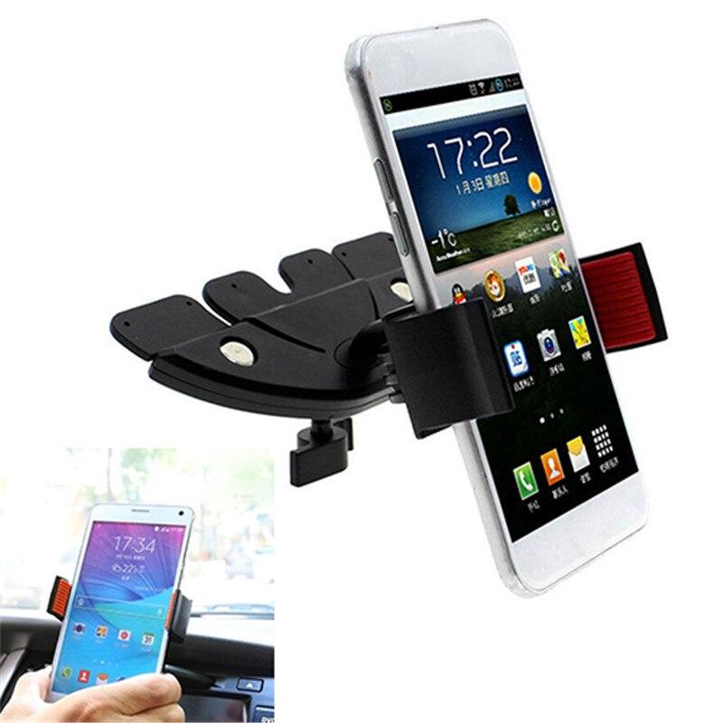 Soporte Universal para coche con ranura para CD, soporte para iPhone, Samsung, teléfono inteligente, GPS, para cualquier soporte de teléfono móvil para coche