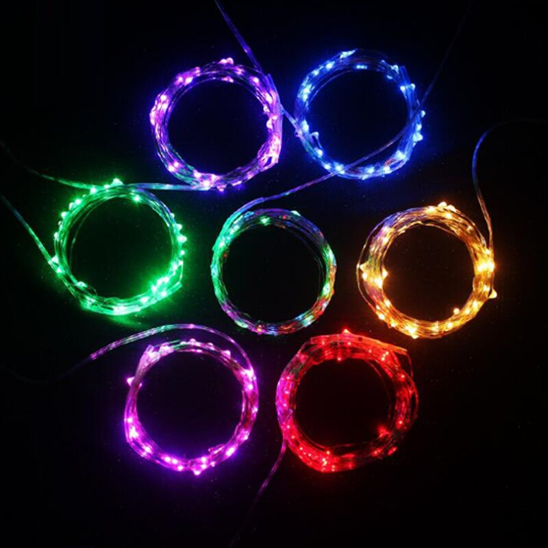 holiday lighting 5m 50led string light copper silver wire battery fairy christmas garland wedding party decoration outdoor 5M 50LED String Lights Christmas Fairy Lights garland Outdoor Home For Wedding/Party/Curtain/Garden Decoration Holiday Lighting