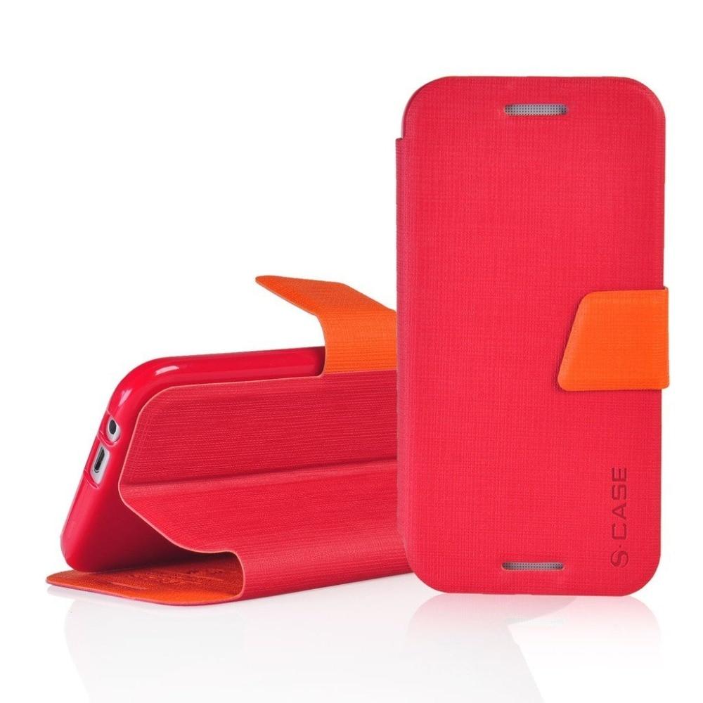 Funda para teléfono móvil HTC One M8 con doble ventana abatible de cuero 5.0para HTC One M8 M8s
