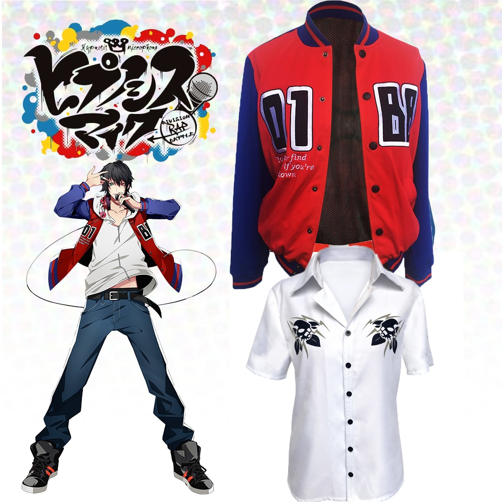 Hypnose micro Division Rap DRB Samatoki Aohitsugi Ichiro Yamada Cosplay Costumes pour femmes hommes adultes enfants enfants avec T-shirt